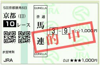 京都10R当たり馬券