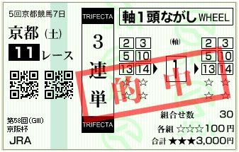 11/13京都11r3連単